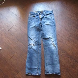 Lucky Brand Mens Distressed Vintage Straight Jeans
